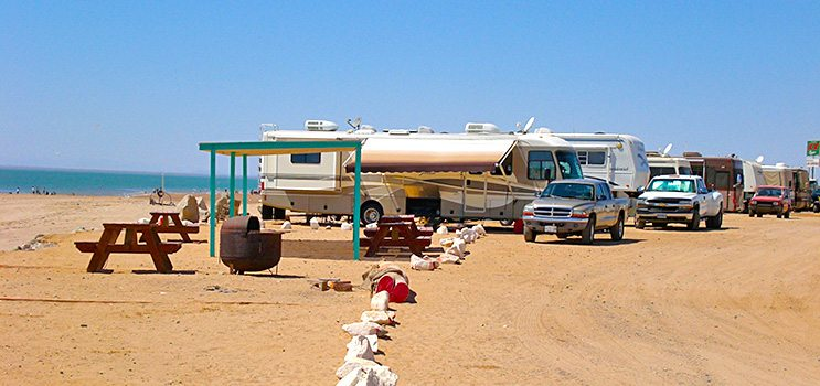 Beach Camping | El Golfo Beach Resort Mexico